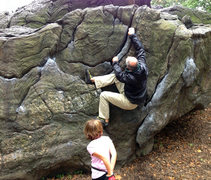Rock Climbing Photo: One of the many aesthetic short problems on Rat Ro...