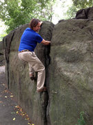 Rock Climbing Photo: Sweet little fist jam problem. Easy V.0-