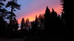 Rock Climbing Photo: Sunset at the Dome Rock parking lot.  Taken Septem...