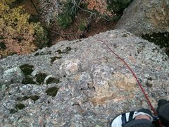 Rock Climbing Photo: From the chains.