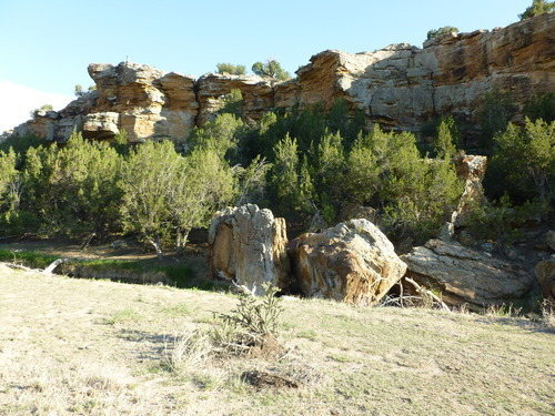 West side crags and boulder.