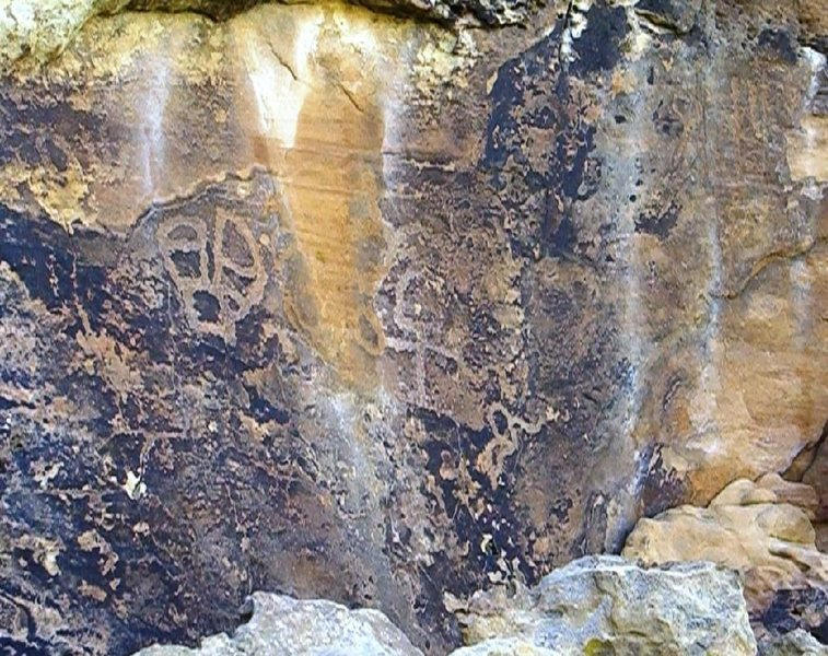Rock Climbing Photo: Sample of the rock art.