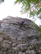 Rock Climbing Photo: Fanny demonstrating proper technique for the crux....