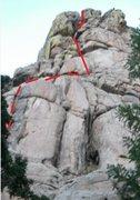 Rock Climbing Photo: ADO starts next to cedar, up a 10' to gain crack o...