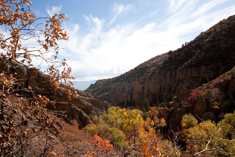 Rock Climbing Photo: Maple Canyon in the Fall