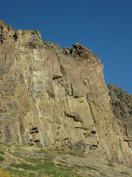 Rock Climbing Photo: More Rock on a cliff 400 yards to the south - look...