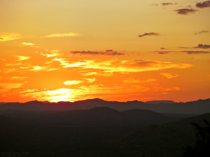 Classic AZ sunset from front porch