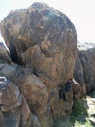 Rock Climbing Photo: Unknown Route without bolt line. A weird 3-bolt TR...