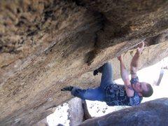 Rock Climbing Photo: Mill Pass, Clam Shell Problem.