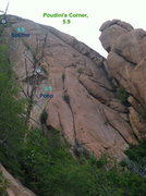 Rock Climbing Photo: Poudini's Corner - a promising splitter with a sou...