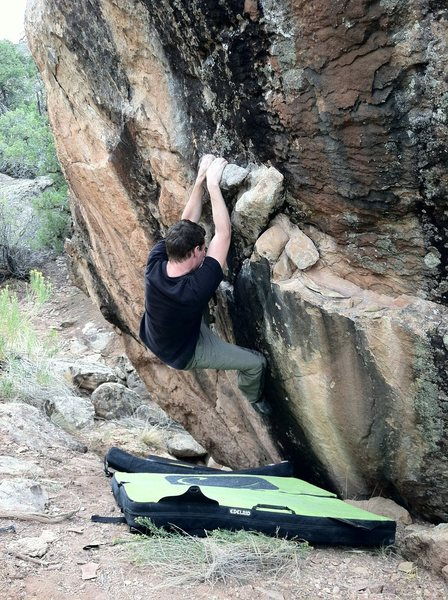 Rock Climbing Photo: Arien moving into the gaston on Lost Language.