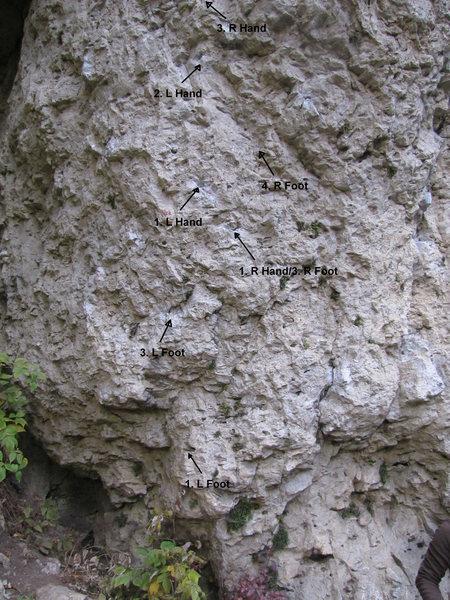 Rock Climbing Photo: Better beta, need to test