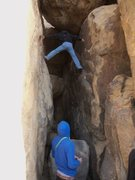 Rock Climbing Photo: Chimney in the Horse Man Center Caves