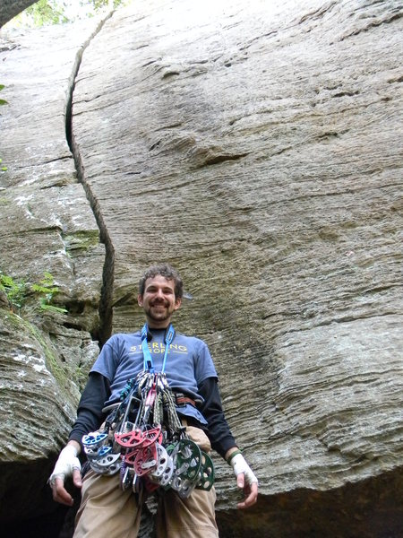 Rock Climbing Photo: Racked for Wide Pride!