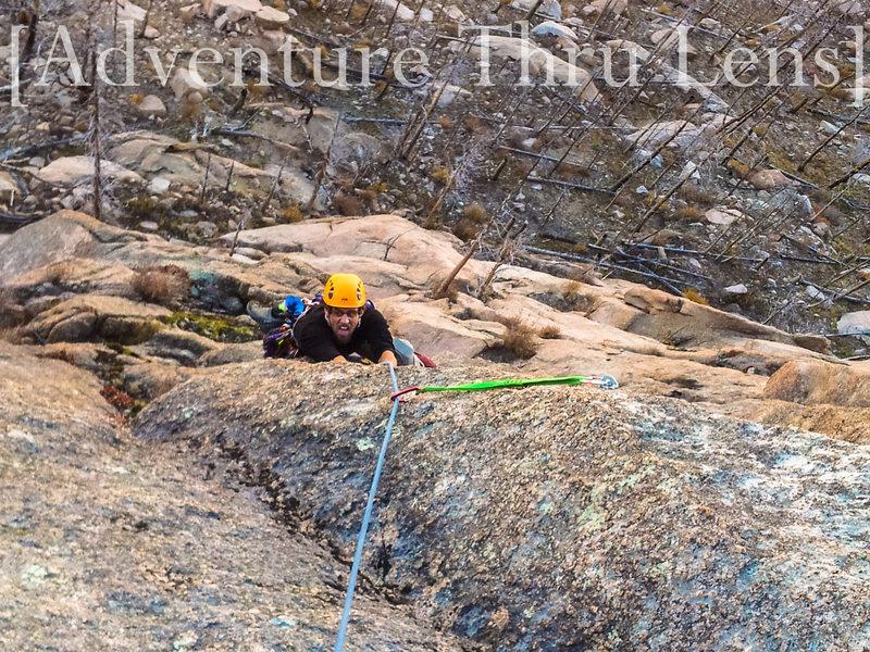 Rock Climbing Photo: Finishing up pitch 1.  patrickbetts.zenfolio.com w...