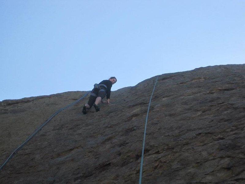 Rock Climbing Photo: Climbing in Point Dume, Malibu.