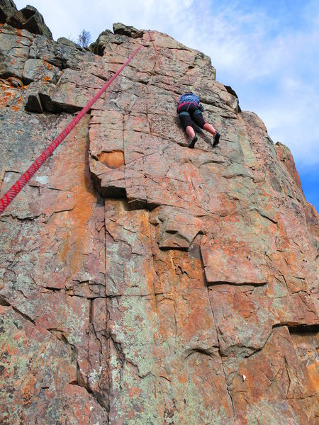 Rock Climbing Photo: Pulling through MF'r located on the upper crag, be...