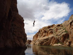 Rock Climbing Photo: A sweet jump from the top of Full Value! Photo by ...