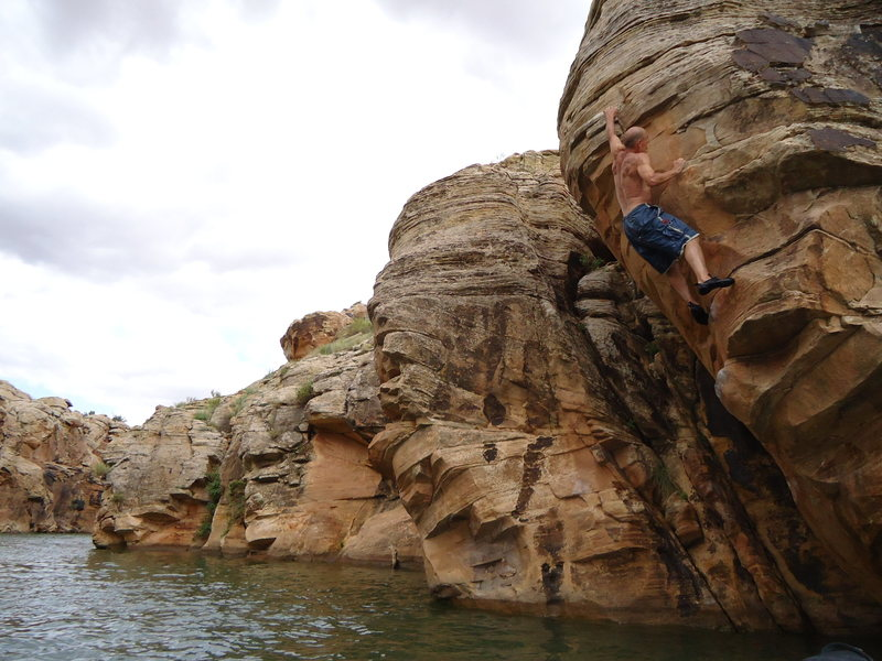 Rock Climbing Photo: DAS just before pulling up on the jug and getting ...