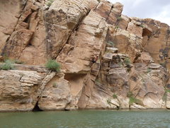 Rock Climbing Photo: Getting ready for the big move to the sloper to ma...