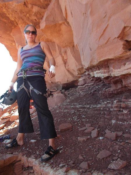 Rock Climbing Photo: Getting ready to climb Coyote Calling