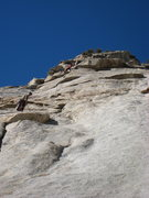 Rock Climbing Photo: Climbers on pitch 2.