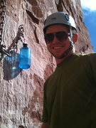 Patrick at the 2nd belay Kor Ingalls