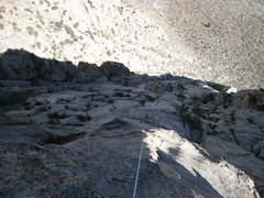 Rock Climbing Photo: Looking down from the top of pitch 7.