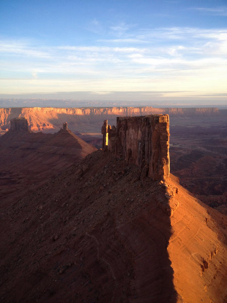 Rock Climbing Photo: Sunrise on The Rectory. March 2012,