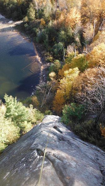 Rock Climbing Photo: John following Tillman's - Peak colors