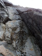 Rock Climbing Photo: A possible location of the trad line left of Shady...