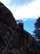 Rock Climbing Photo: Dave above the crux start bit.  There is a slightl...
