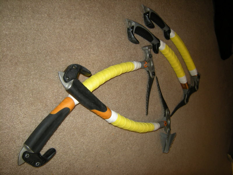 Rock Climbing Photo: Bike tape on tools.
