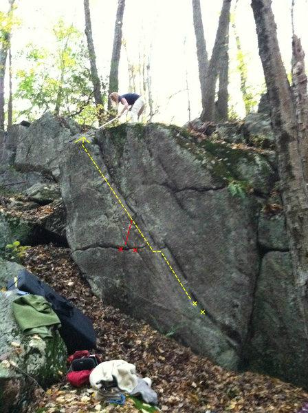 Rock Climbing Photo: Sock Eyed Salmon, Alt V0 start in Red.