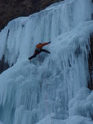 Rock Climbing Photo: Matt sending in WI5 hard conditions.
