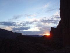 Rock Climbing Photo: Sunset below Gothic