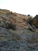 "Rock Climbing Photo: Scott leading pitch two of ""Printer Boy""..."