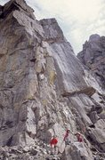 Rock Climbing Photo: Perry Mansfield climbers under what we called PM B...