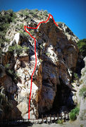 Rock Climbing Photo: Dead Terrorist ridge traverse  P1: 5.7 P2: 5.8 P3:...