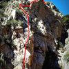Dead Terrorist ridge traverse <br> P1: 5.7<br> P2: 5.8<br> P3: 5.4<br> P4: 5.8<br> P5: 5.6<br> P6: 5.6<br> P7: 5.5