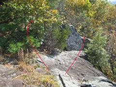 Rock Climbing Photo: To downclimb to bottom (class 4), bushwhack a bit ...