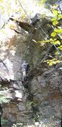 Rock Climbing Photo: Ed pauses before tackling the center section of Co...