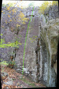 Rock Climbing Photo: Note the green stripe right up the middle