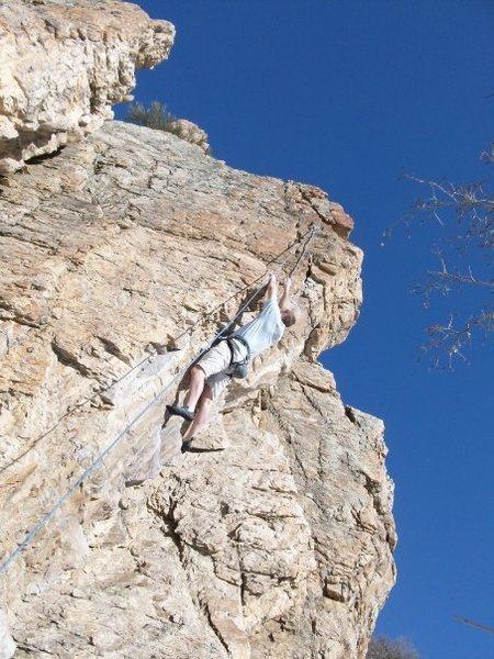 Rock Climbing Photo: The Bulge 11b Rock Canyon