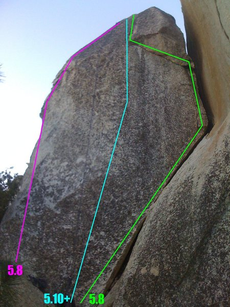 Rock Climbing Photo: The Pink 5.8 on the left