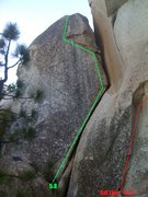 Rock Climbing Photo: Right route on the far left slab right next to Ant...