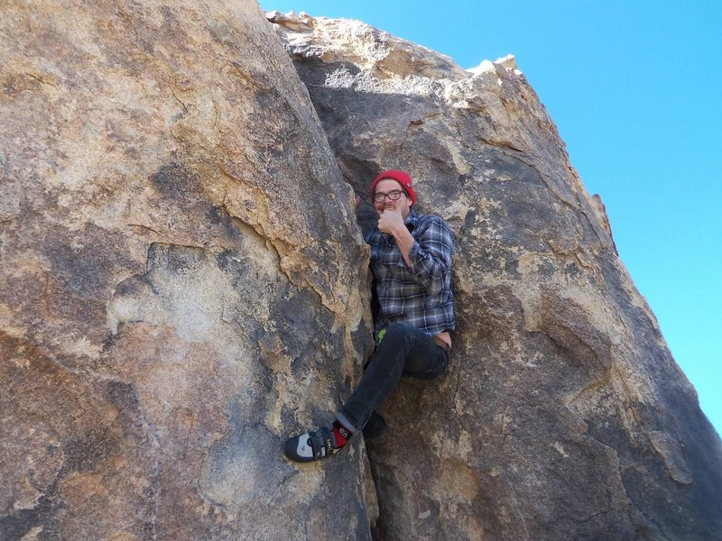 Rock Climbing Photo: Jorden enjoying his crack