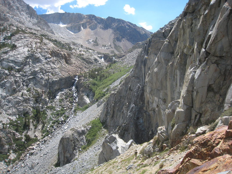 tioga cliff from the approach trail