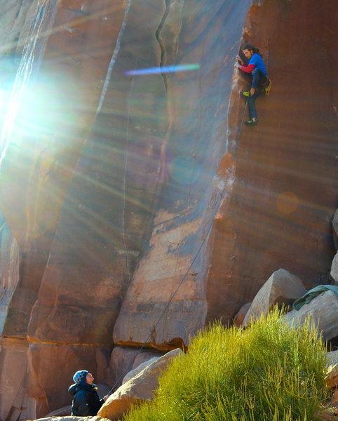 fantastic arete climbing