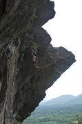 Rock Climbing Photo: James holding on